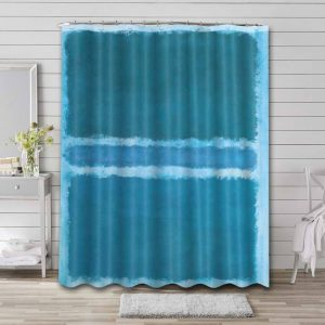 Mark Rothko Untitled (Blue Divided by Blue) Waterproof Bathroom Shower Curtain