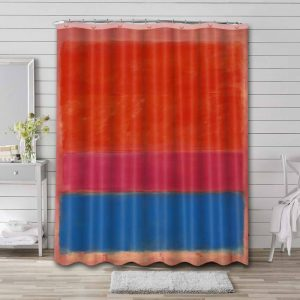 Mark Rothko No. 1 (Royal Red and Blue) Shower Curtain Bathroom Decoration