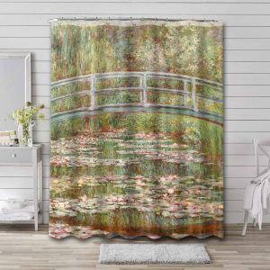 Claude Monet The Water Lily Pond Shower Curtain Waterproof Polyester