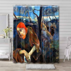 Paul Gauguin Christ on the Mount of Olives Bathroom Shower Curtain Waterproof