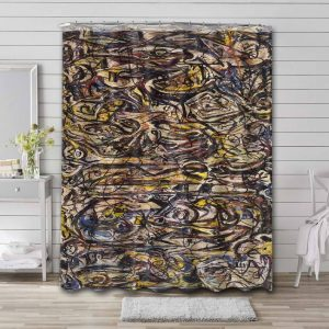 Jackson Pollock There Were Seven in Eight Bathroom Curtain Shower Waterproof