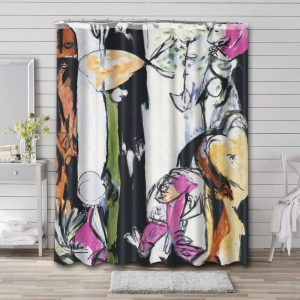 Jackson Pollock Easter and the Totem Bathroom Curtain Shower Waterproof