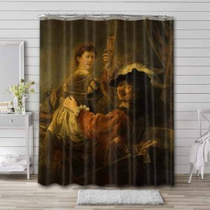 Rembrandt The Prodigal Son in the Brothel Bathroom Shower Curtain Waterproof