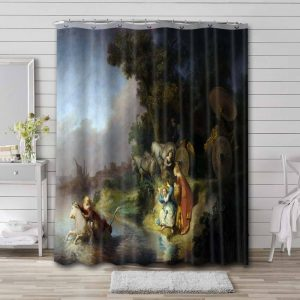 Rembrandt The Abduction of Europa Waterproof Bathroom Shower Curtain