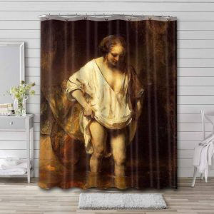 Rembrandt A Woman Bathing in a Stream Waterproof Shower Curtain Bathroom