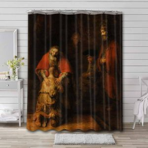 Rembrandt The Return of the Prodigal Son Waterproof Shower Curtain Bathroom