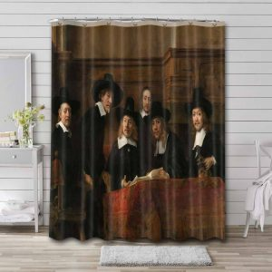 Rembrandt Syndics of the Drapers' Guild Waterproof Bathroom Shower Curtain