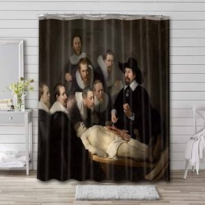 Rembrandt The Anatomy Lesson of Dr. Nicolaes Tulp Bathroom Curtain Shower Waterproof