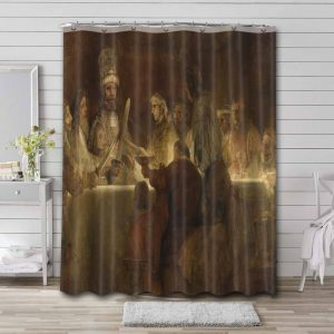 Rembrandt The Conspiracy of Claudius Civilis Waterproof Curtain Bathroom Shower
