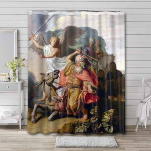 Rembrandt Balaam and the Ass Shower Curtain Bathroom Waterproof