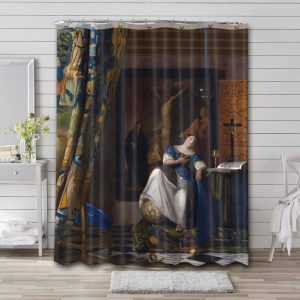 Johannes Vermeer The Allegory of Faith Shower Curtain Waterproof Polyester