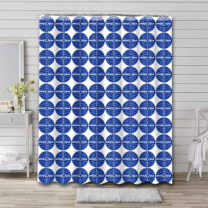 Pan Am Airline Pattern Shower Curtain Waterproof Polyester
