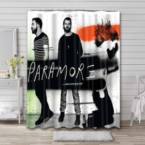 Paramore Escape Route  Bathroom Shower Curtain Waterproof
