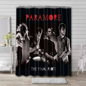 Paramore The Final Riot Bathroom Curtain Shower Waterproof