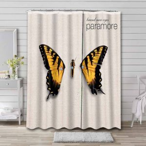 Paramore Brand New Eyes Shower Curtain Waterproof Polyester