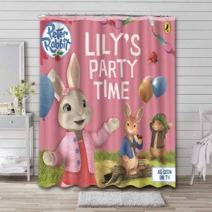 Peter Rabbit Lilly Party Time Shower Curtain Bathroom Decoration