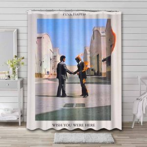 Pink Floyd Wish You Were Here Shower Curtain Waterproof Polyester