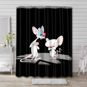 Pinky and the Brain Cartoon Shower Curtain Waterproof Polyester