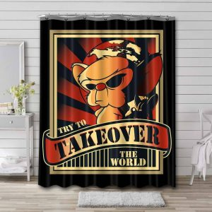 Pinky and the Brain Try To take Over The World Waterproof Bathroom Shower Curtain