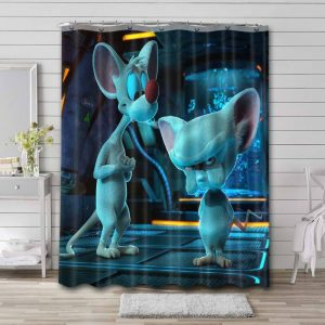 Pinky and the Brain 3D Shower Curtain Bathroom Decoration