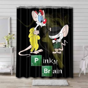 Pinky and the Brain Shower Curtain Bathroom Decoration