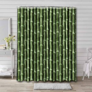 Bamboo Shower Curtain Waterproof Polyester