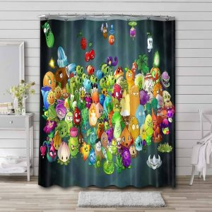 Plants vs. Zombies Characters Shower Curtain Waterproof Polyester