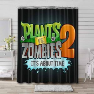 Plants vs. Zombies 2 It's About Time Bathroom Curtain Shower Waterproof