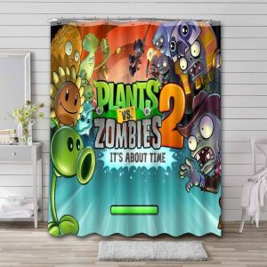 Plants vs. Zombies Shower Curtain Waterproof Polyester