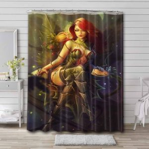 Poison Ivy Shower Curtain Bathroom Decoration Waterproof Polyester Fabric.
