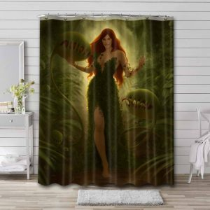 Poison Ivy Aesthetics Shower Curtain Waterproof Polyester