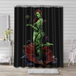 Poison Ivy Arts Shower Curtain Waterproof Polyester