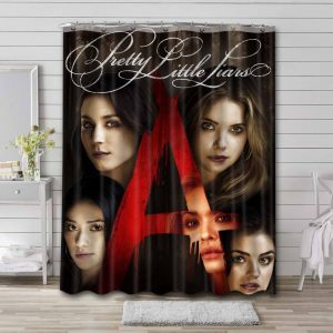 Pretty Little Liars Characters Shower Curtain Bathroom Decoration