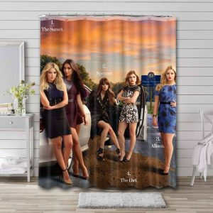 Pretty Little Liars Characters Shower Curtain Waterproof Polyester