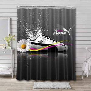 Puma Shoes Shower Curtain Waterproof Polyester
