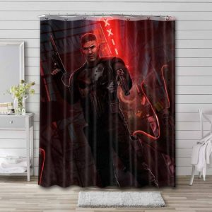 The Punisher Shower Curtain Bathroom Decoration Waterproof Polyester Fabric.