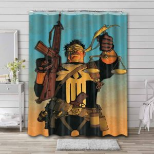 The Punisher Shower Curtain Waterproof Polyester