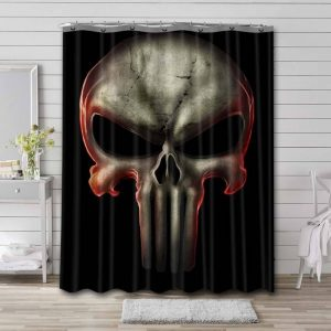 The Punisher Logo Shower Curtain Waterproof Polyester