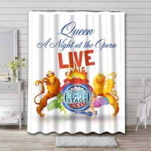 Queen A Night at the Opera Waterproof Bathroom Shower Curtain