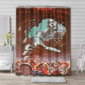 Queen News of the World Shower Curtain Bathroom Decoration