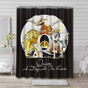 Queen Queen A Day at the Races Waterproof Shower Curtain Bathroom