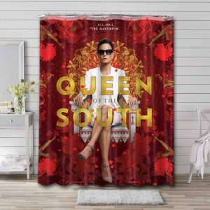 Queen of the South Waterproof Bathroom Shower Curtain