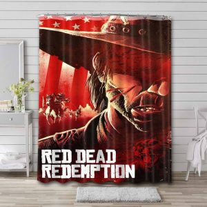 Red Dead Redemption Characters Shower Curtain Waterproof Polyester