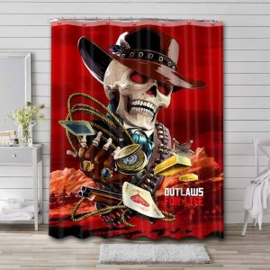 Red Dead Redemption Characters Bathroom Shower Curtain Waterproof