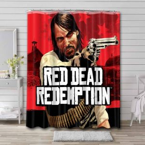 Red Dead Redemption Shower Curtain Waterproof Polyester