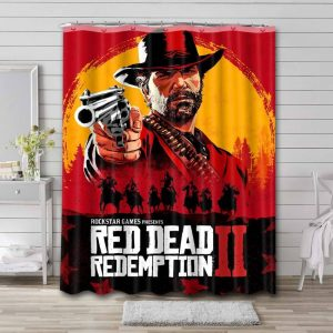 Red Dead Redemption Characters Shower Curtain Bathroom Waterproof