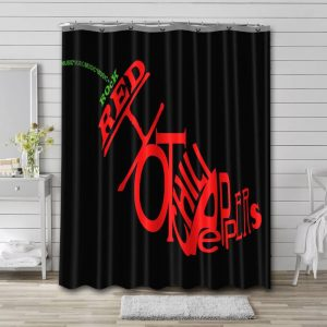 Red Hot Chili Peppers Waterproof Curtain Bathroom Shower