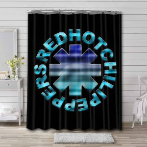 Red Hot Chili Peppers Rock Band Shower Curtain Bathroom Waterproof