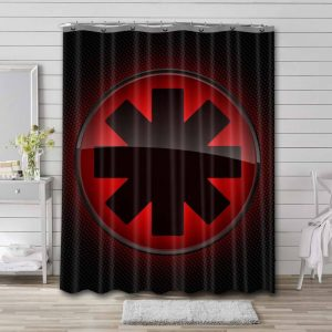 Red Hot Chili Peppers Rock Band Shower Curtain Bathroom Decoration