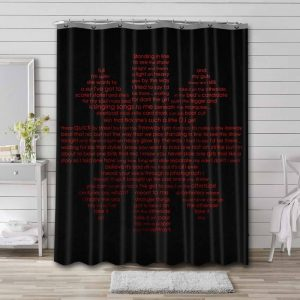 Red Hot Chili Peppers Rock Band Shower Curtain Waterproof Polyester